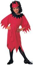 Devil Girl Halloween Costume Child Size 8-10 New ! - $11.19