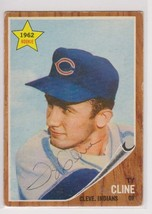 Ty Cline Signed Autographed 1962 Topps Baseball Card - Chicago Cubs - $14.99