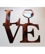 """LOVE Wine Metal Wall Art Decor 8"""" x 8 1/4"""" - $9.99"""