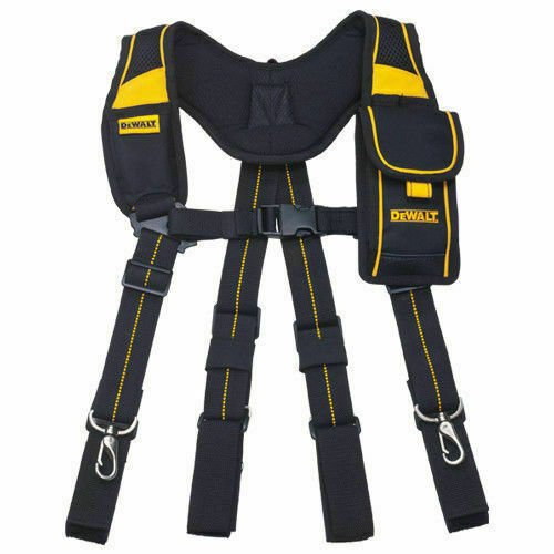 DEWALT DWST80915-8 Pro Work Tool Belt Suspender Mobile Pouch Adjustable
