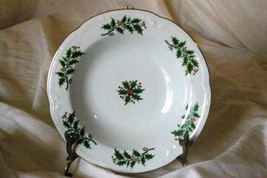 Wtoctawek Poland Holly & Berries Rimmed Soup Bowl - $6.92