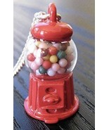 Gumball Machine Charm with lobster clasp Retro Red Enamel - $7.91