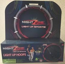 NIGHT Zone LIGHT UP HOOPS - GREEN Lighted Over The Door Hoop & Ball - $19.92