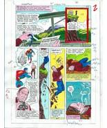 Original 1985 Superman 409 page 2 DC Comics color guide art/colorist's a... - $39.59