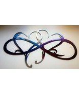 "Dual Infinity Hearts Metal Wall Art Accent Two Hearts Become One 18 1/4"" wide - $39.99"