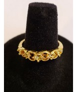 Goldtone Ring Fun Fashion Costume Jewelry - New - $9.99