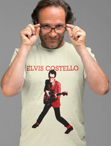Elvis Costello T-shirt Free Shipping 80's new wave punk rock cotton graphic tee image 2