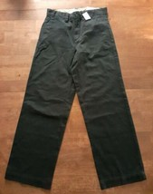 Childrens Place Boys Chino Pants SZ 10 Regular Black Cotton Adjustable W... - $18.56