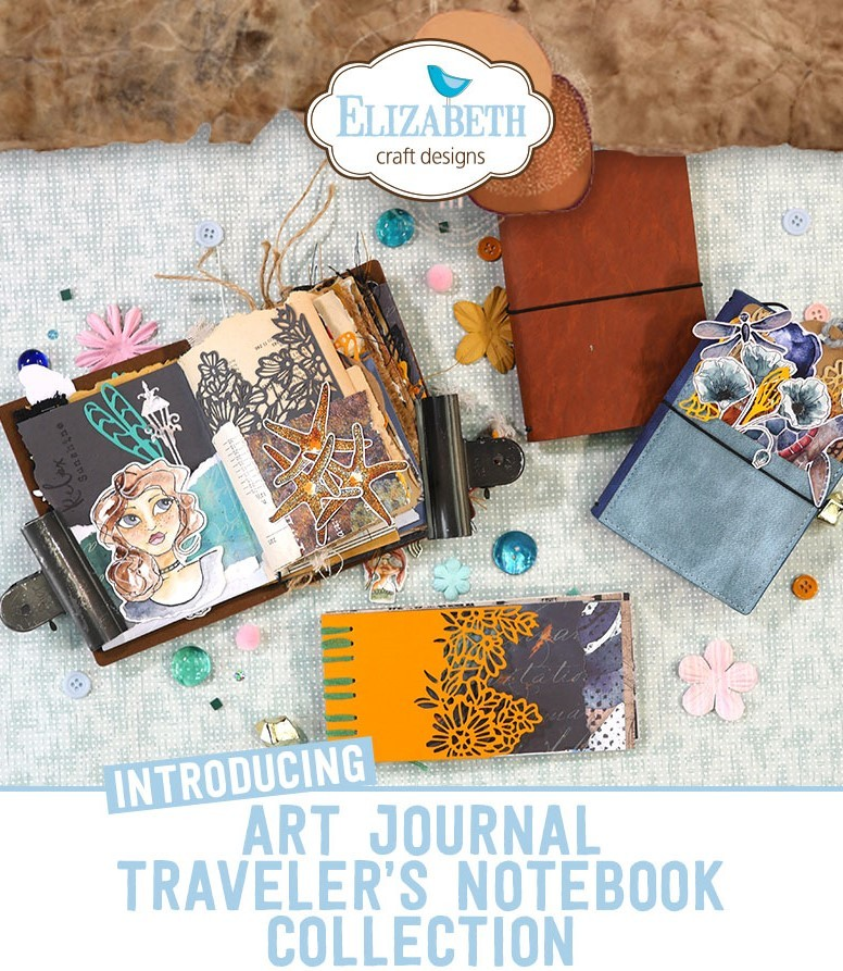 Brown Journal Bundle. Art Journal Traveler's Notebook. Elizabeth Craft