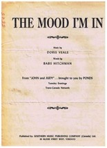 The Mood I'm In Sheet Music Doris Veale Babs Hitchman - $3.63