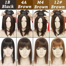 NEW 11'' Lady Hair Topper Real One Piece Full Head Clip In Hair Extension image 3