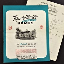 1951 vintage SEABOARD Ready-Built HOMES catalog plans prices philadelphi... - $38.95
