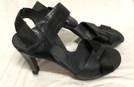 BCBG MAXAZRIA SHOES Platform Heel black Leather Size: 8/38 - $18.69