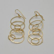 Drop Earrings 925 Silver Gold Foil & Circles by Maria Ielpo Made in Italy image 4