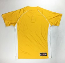 Under Armour Performance 2 Button Henley Baseball Jersey Men's Large Yellow - $27.71