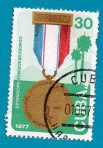 Used Cuban Postage Stamp (1977) 30 Medals Scott Cat# C256 - $1.99