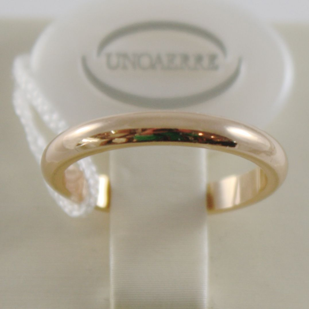 SOLID 18K YELLOW GOLD WEDDING BAND UNOAERRE RING 4 GRAMS MARRIAGE MADE IN ITALY