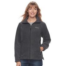 Women's Plus Size Columbia Three Lakes Full Zip Fleece Jacket - Heather - 1X - $33.81