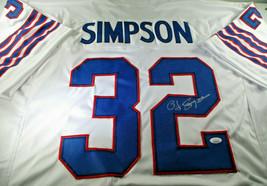 O.J. SIMPSON / HALL OF FAME / AUTOGRAPHED BUFFALO BILLS CUSTOM STAT JERSEY / JSA image 1