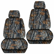 Front set car seat covers fits Chevy Silverado 2008-2021    Camouflage 6 Colors - $79.99