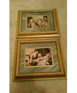 Two Matching Framed Decorative Biblical Prints Both Measure 12.5x10.5x1 ... - $18.10