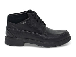 Low boot Clarks UNTREAD ONGTX BL in black leather - Men's Shoes - $222.30