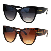 Thick Temple Plastic Horned Cat Eye Womens Retro Sunglasses - $9.95