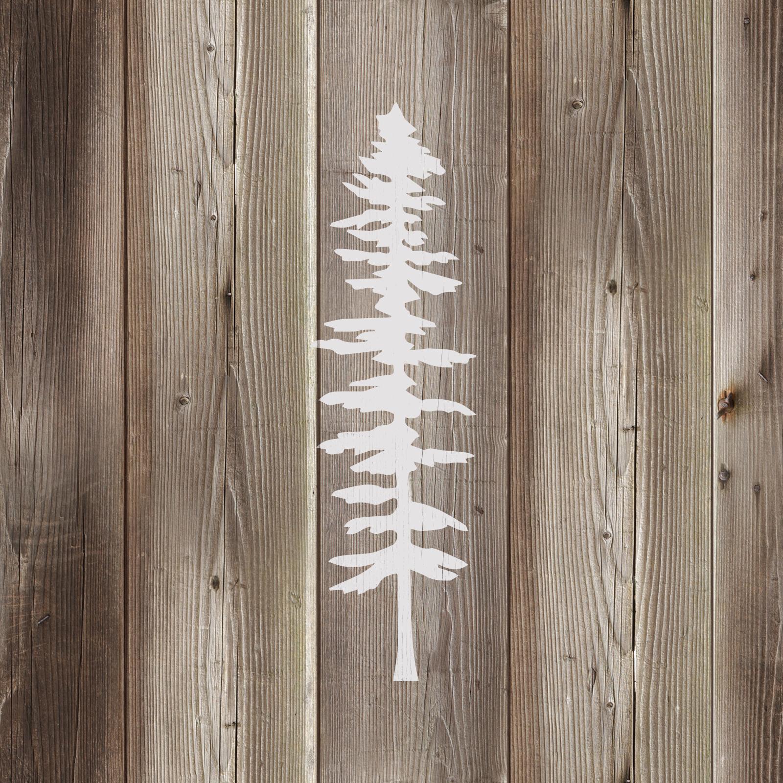 Tall Fir Tree Stencil - Durable & Reusable Mylar Stencils