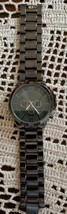 """Accutime Brand ~ Large Face ~ Gunmetal Colored Watch ~ Stainless Steel Case - $27.72"