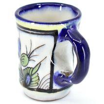 Ceramic Hand Painted Hummingbird & Flower Espresso Cup Mug Handmade Guatemala image 4