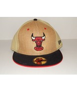 Chicago Bulls NBA Windy City Burlap 59Fifty Fitted Hat Cap New Era Size ... - $13.98