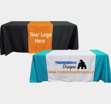 Customize Table Runner Cloth Using your Text and Logo Free design for Business,  image 2