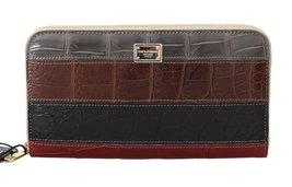 Multicolor Crocodile Leather Continental Wallet - $1,347.50