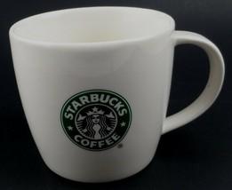 Starbucks Double Mermaid Tail 2008 12 fluid oz White Coffee Cup Mug Bone... - $10.29