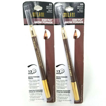 Lot of 2 - Milani Stay Put Brow Pomade- 03 Medium Brown - $14.99