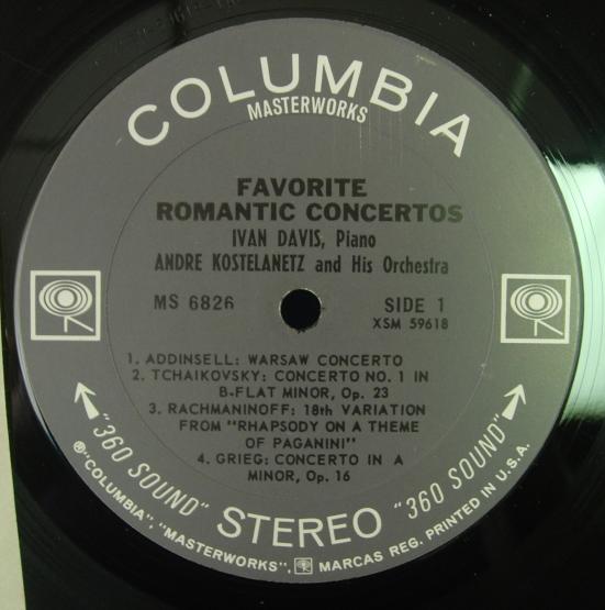 Andre Kostelanetz - Warsaw Concerto - Columbia MS 6826