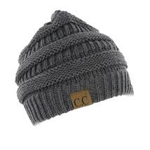 C.C Beanie Women's Thick Knit Winter Beanie Hat 20-A Color Melange Grey ... - $18.80