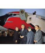 President John F. Kennedy and Governor Pat Brown Air Force One New 8x10 ... - $6.61