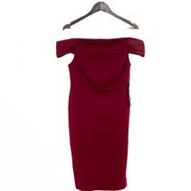 Lulus Women's Size XL Foxy Off The Shoulder Bodycon Dress Side Slit Burg... - $39.55