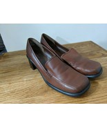 Predictions women's shoes Loafers Brown Leather 11 M Slip-on  - $9.31