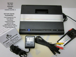 Atari 7800 Refurbished Upgraded OS NTSC | PAL MODs AV | LED | Heat Sink ID: #050 - $280.00