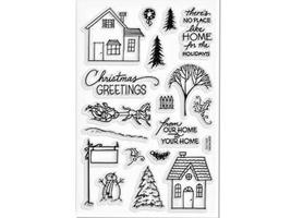 Stampendous Holiday Home Stamp Set #SSC1067 - $11.99