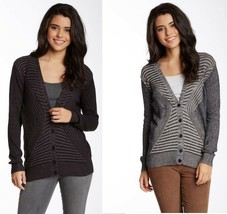 New Nordstrom Juniors Size XS & M Abound Plaited Ribs Striped Cardigan S... - $19.99