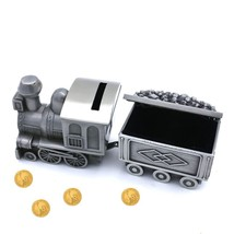 Amor Vintage Metal Train Coin Bank Creative Train Shaped Money Saving Ba... - $25.01
