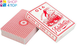 2 DECKS ELLUSIONIST ROADHOUSE RED BICYCLE PLAYING CARDS MAGIC TRICKS USP... - $23.16