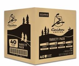 Keurig Caribou Coffee Favorites Variety Pack Single Serve Kcup Pods 40CT - $35.44