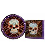 Happy Halloween Party Pack - Paper Plates and Napkins Day of The Dead Su... - $364,01 MXN