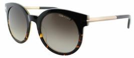 Tom Ford Damen Abgerundete Sonnenbrille TF435 01K Schwarz/Havanna Rahmen Braune - $127.69