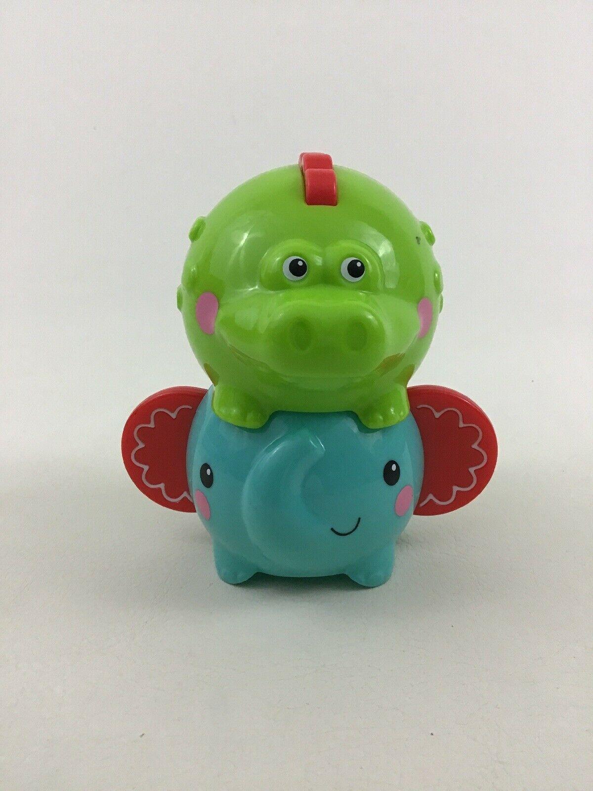 Fisher Price Toddler Stacking Animal Toys 3pc Lot Elephant Crocodile Toy image 6