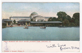 Field Museum Boat House Chicago IL 1905 postcard - $5.45